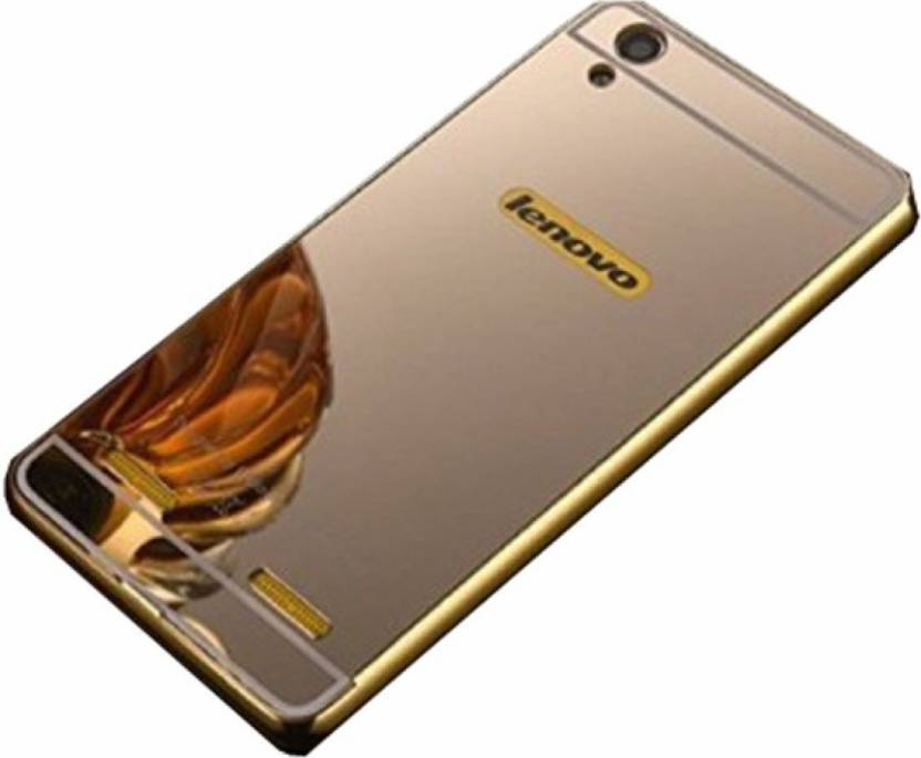 buy online 26455 95be6 LOVEBERRY Back Cover for LENOVO A6000 MIRROR BACK GOLD