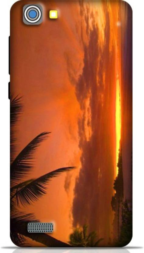 Style Baby Back Cover for Vivo Y35 (Green color Scenery Sunset Beach Mobile Pouch, Plastic)