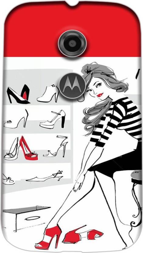 PrintDhaba Back Cover for Motorola Moto E2