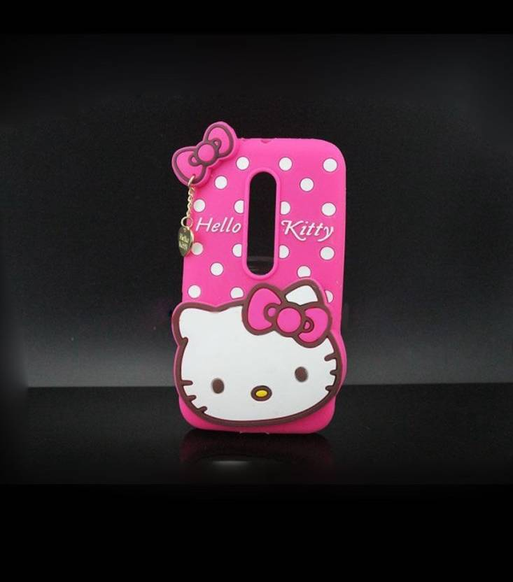 f657b316f Hello Kitty Back Cover for Motorola Moto G (3rd Generation) (Pink, Rubber)