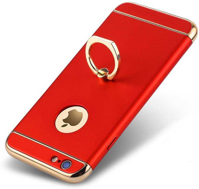 online retailer 878f3 e7ccf NSSTUFF Back Cover for Chrome 3 Piece Hybrid Protective Back Case Cover  With inbuilt Finger Ring for Apple iPhone 6 / Apple iphone 6s – Gold + Red  ...