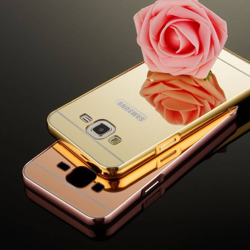 SMA Back Cover for Metal Bumper Plus Acrylic Mirror Back Cover Case For Samsung Galaxy J7, Mirror Back Cover Case For Samsung Galaxy J7 - Gold ( Golden, ...