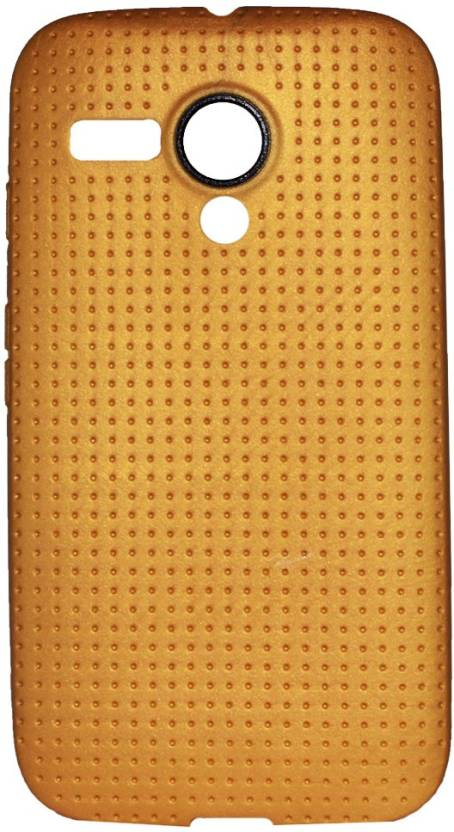 Heartly Back Cover for Motorola Moto G 1st Generation XT1031 XT1032 Gold, Silicon