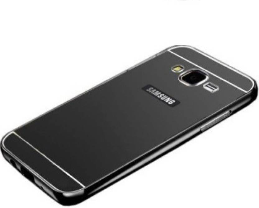 Mobile Back Cover for Samsung Galaxy On7 (Black, Metal)