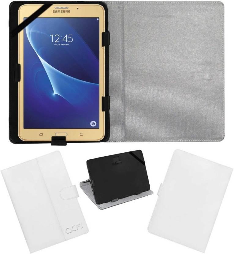 ACM Book Cover for Samsung Galaxy J Max Tab White