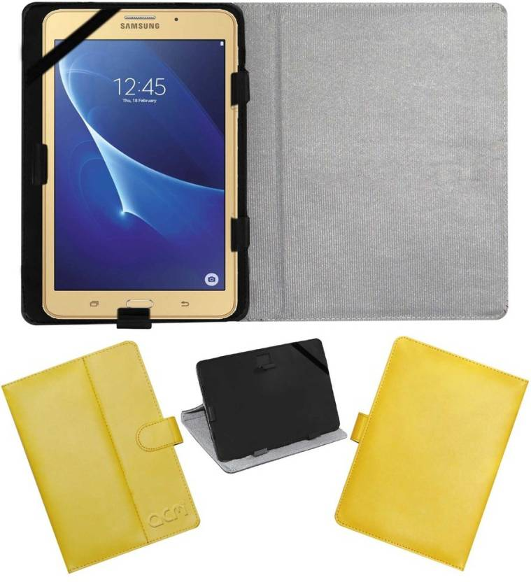 ACM Book Cover for Samsung Galaxy J Max Tab Yellow