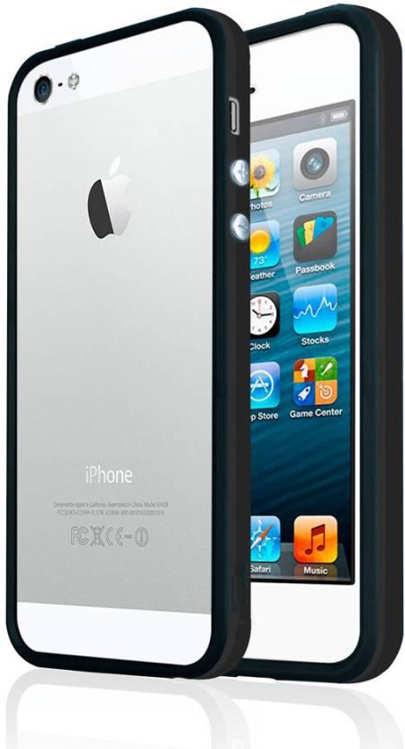 04bc11891d Kolorfish Bumper Case for Apple iPhone 5, Apple iPhone 5s (Black, Rubber,  Plastic)