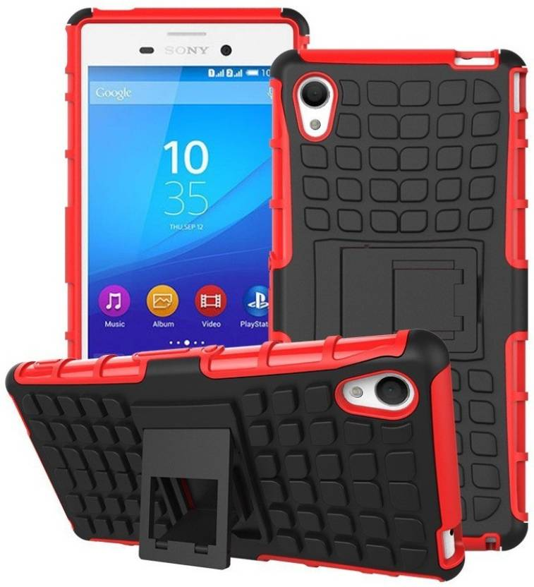 Heartly Bumper Case for Sony Xperia M4 Aqua Red
