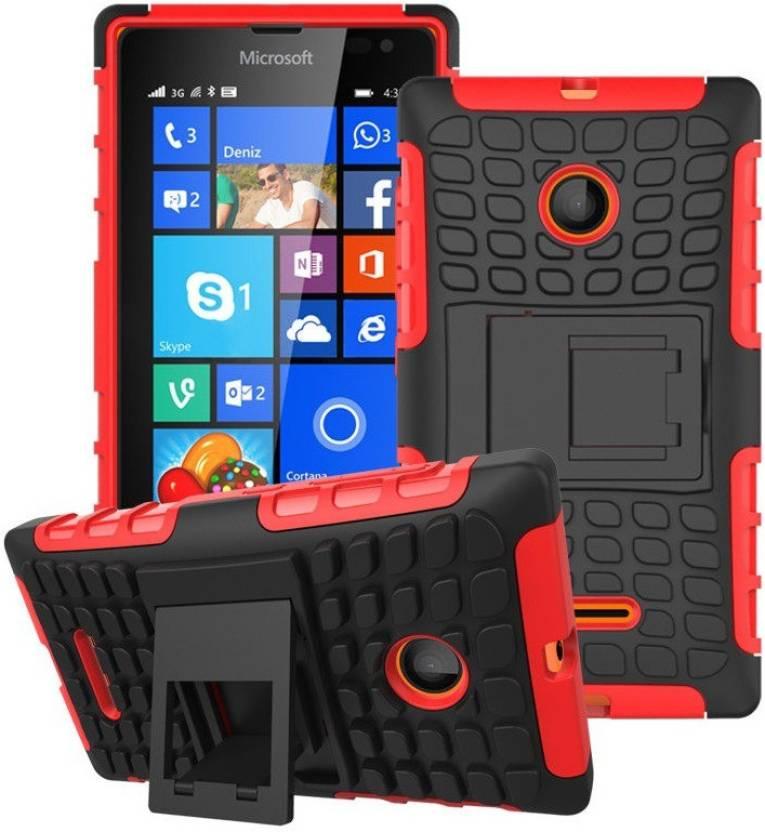 Heartly Bumper Case for Microsoft Lumia 435 Red