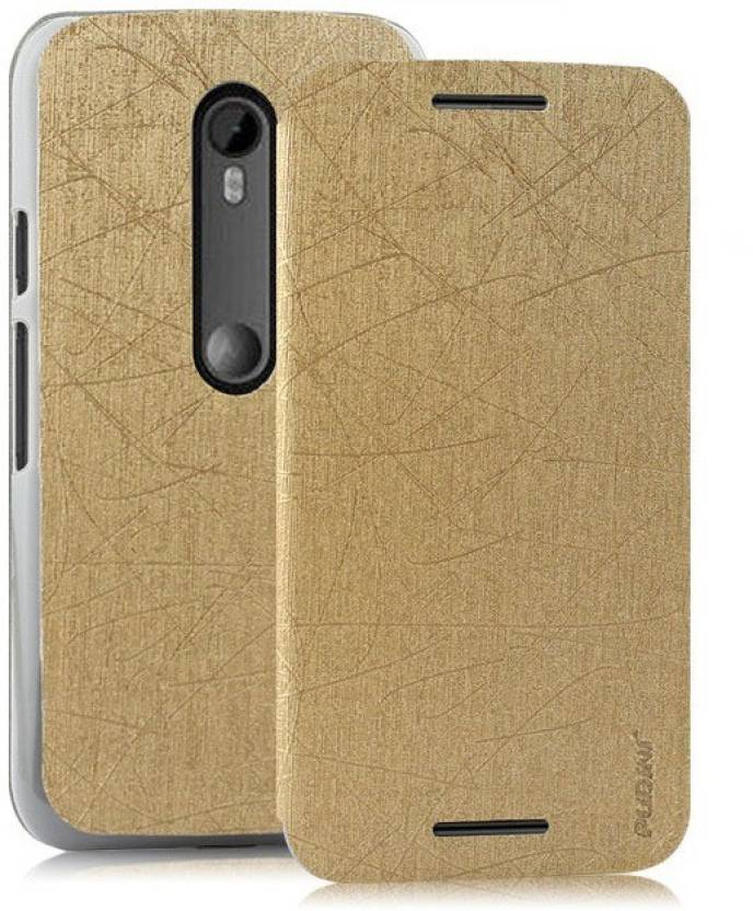 factory authentic 5ff26 3452b Pudini Flip Cover for Motorola Moto G (3rd Generation)