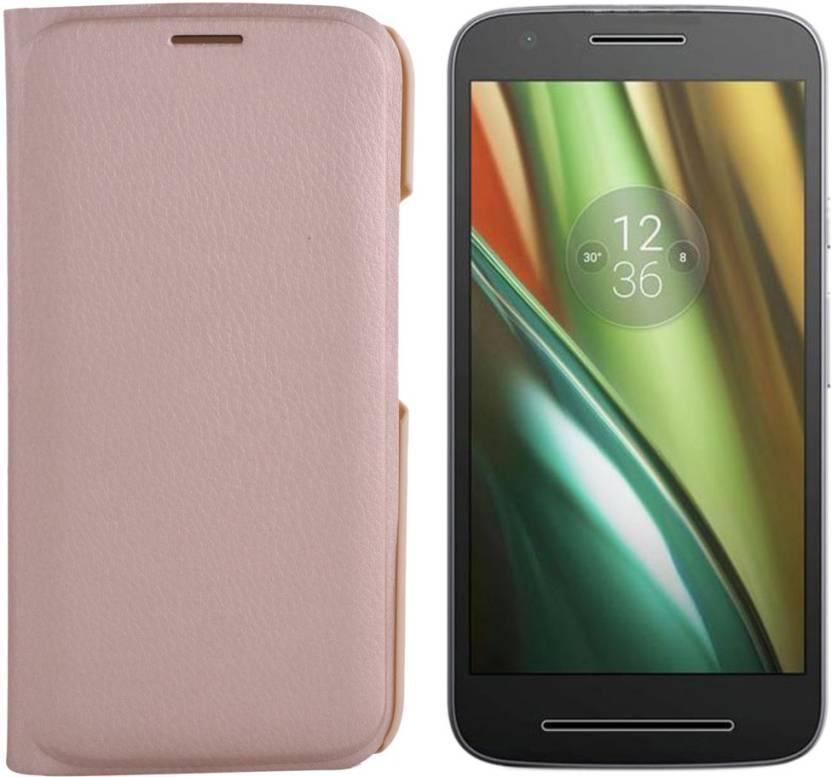 the best attitude 8db61 e82f1 Power Flip Cover for Motorola Moto E3 Power - Power : Flipkart.com