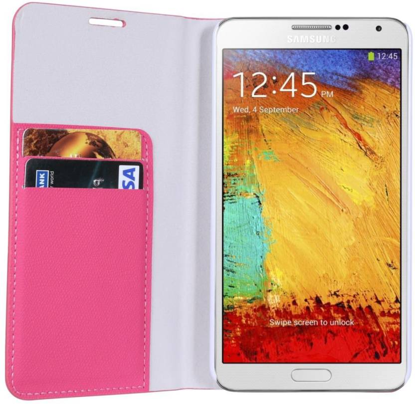 2d1ab48bd75 Dob Flip Cover for Samsung Galaxy Note 3 N9005 (Pink, Artificial Leather)