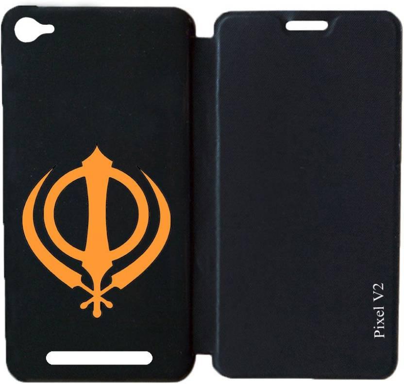 Ganesham Flip Cover for Lava Iris X5 4G