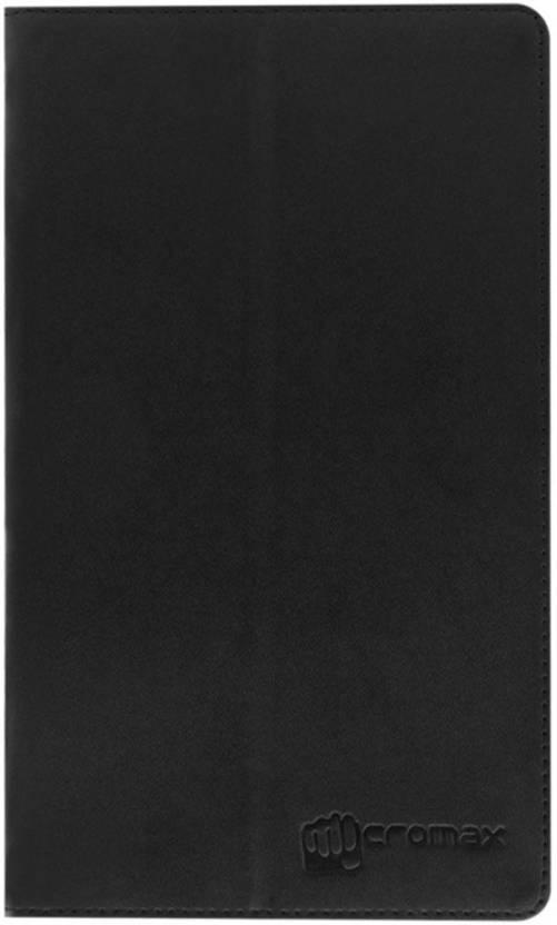 Colorcase Flip Cover for Micromax Canvas Tab P681 Black
