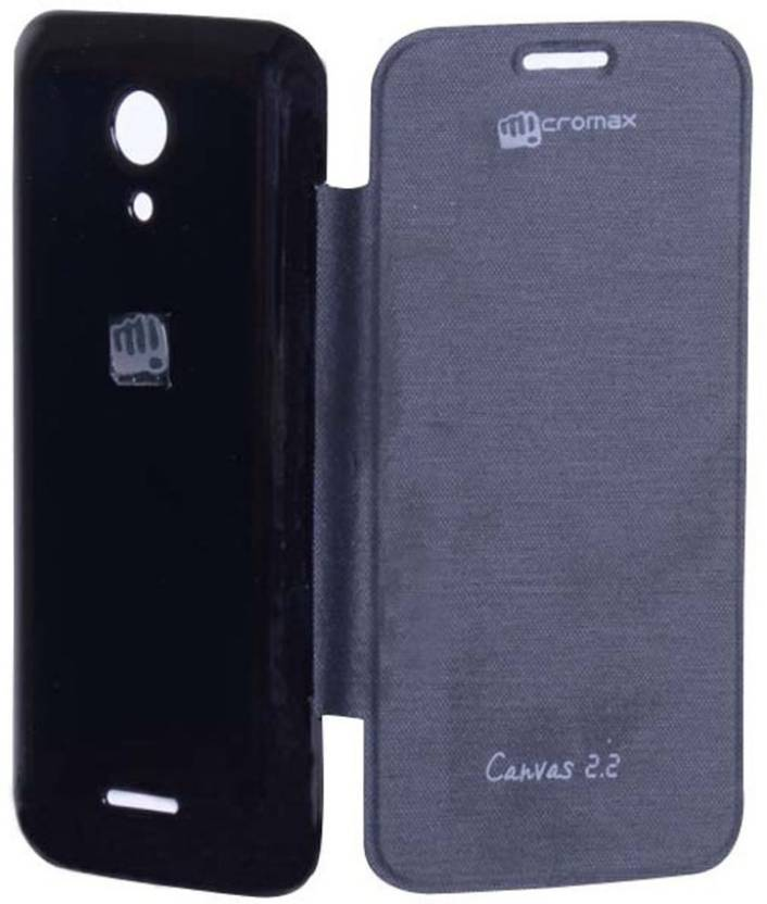 Canvas Flip Cover for Micromax Cavnas A114 Canvas 2.2