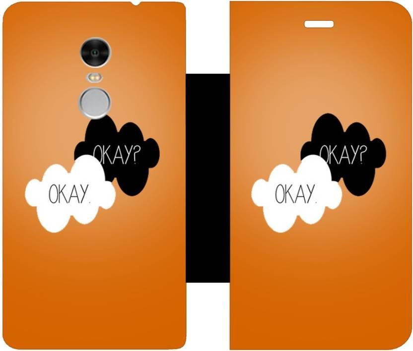Skintice Flip Cover for Xiaomi Redmi Note 4 Orange