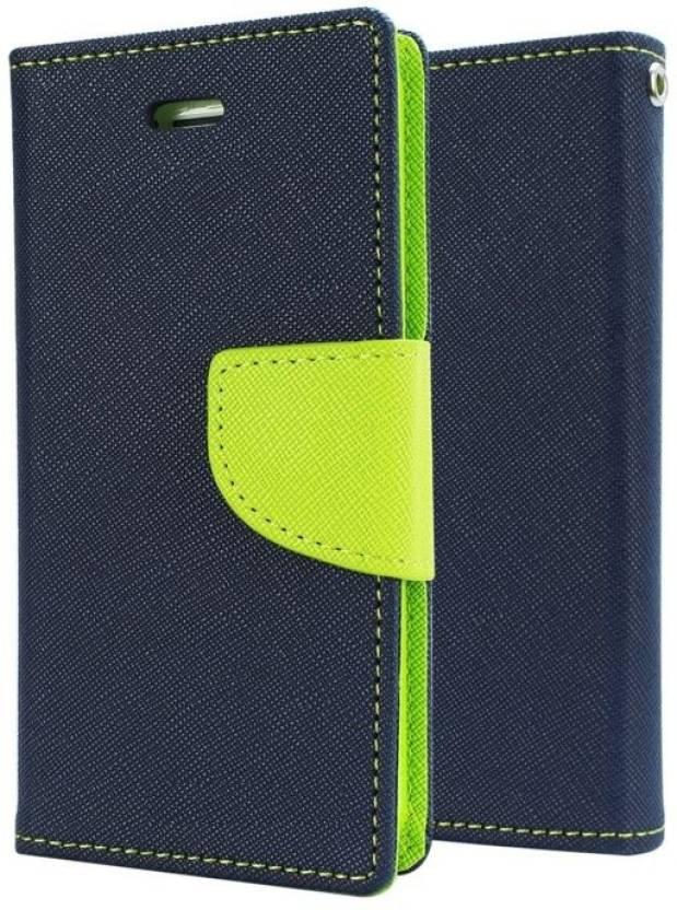 Spicesun Flip Cover for Samsung Galaxy J5 Prime Blue