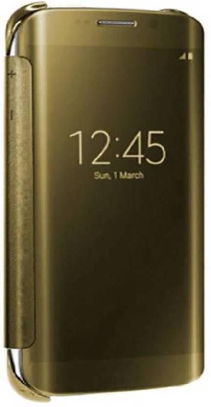 FashionCops Flip Cover for SAMSUNG Galaxy A9 Pro Golden
