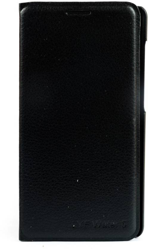 Mystry Box Flip Cover for Reliance Jio LYF Water 5 Black