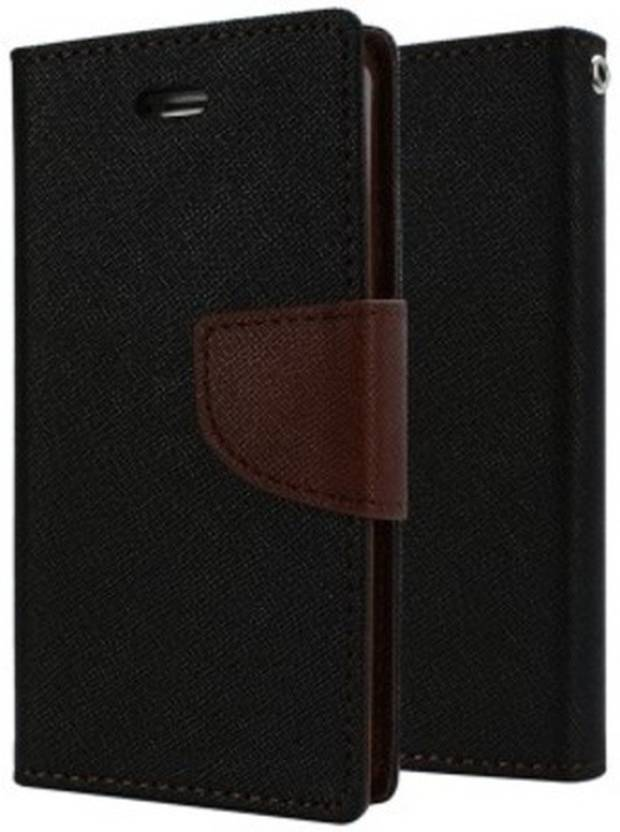 Loopee Flip Cover for micromax hue 2 a316 Brown