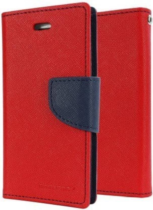 securemob Flip Cover for MicromaxCanvas Gold A300(Red)