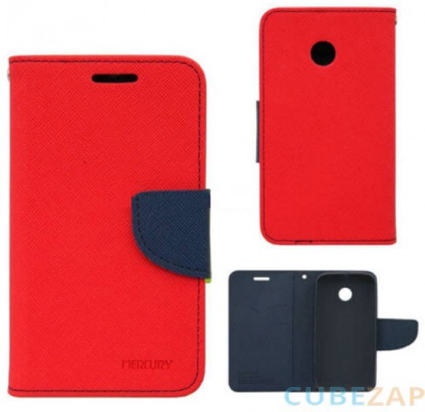 Coverkey Flip Cover for Horrer 4C Red