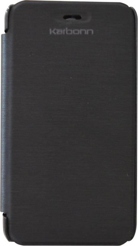 COVERNEW Flip Cover for Karbonn Smart A51 Black