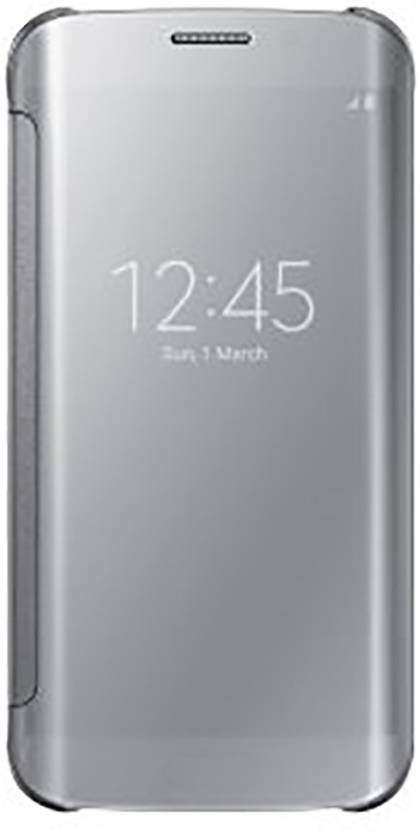 Mystry Box Flip Cover for Samsung Galaxy S7 egde Silver