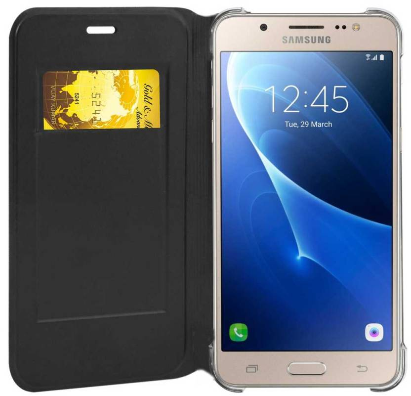 new style f1a31 a1e4d CareFone Flip Cover for Samsung Galaxy J7 - 6 (New 2016 Edition) with Smart  Sensor