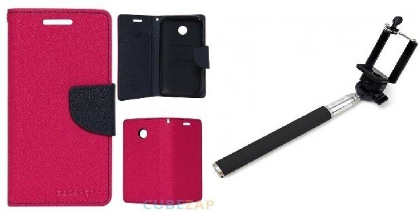 Securemob Flip Cover for Sony Xperia E4G Pink