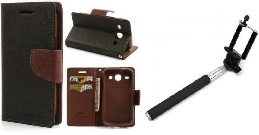 Securemob Flip Cover for Honor 4C Brown