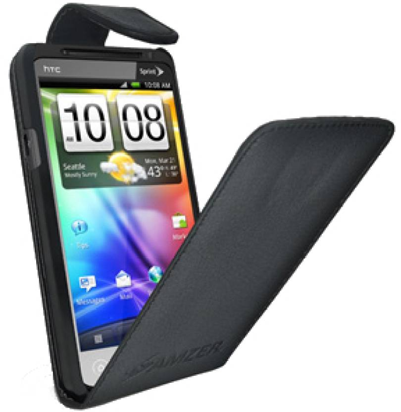 Amzer Flip Cover for HTC Evo 3D Black