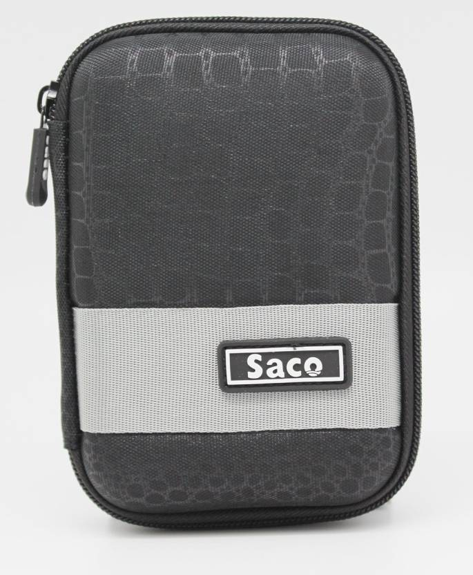 Saco Pouch for WD Elements 2.5 inch 2 TB External Hard Drive (Black, Artificial Leather)