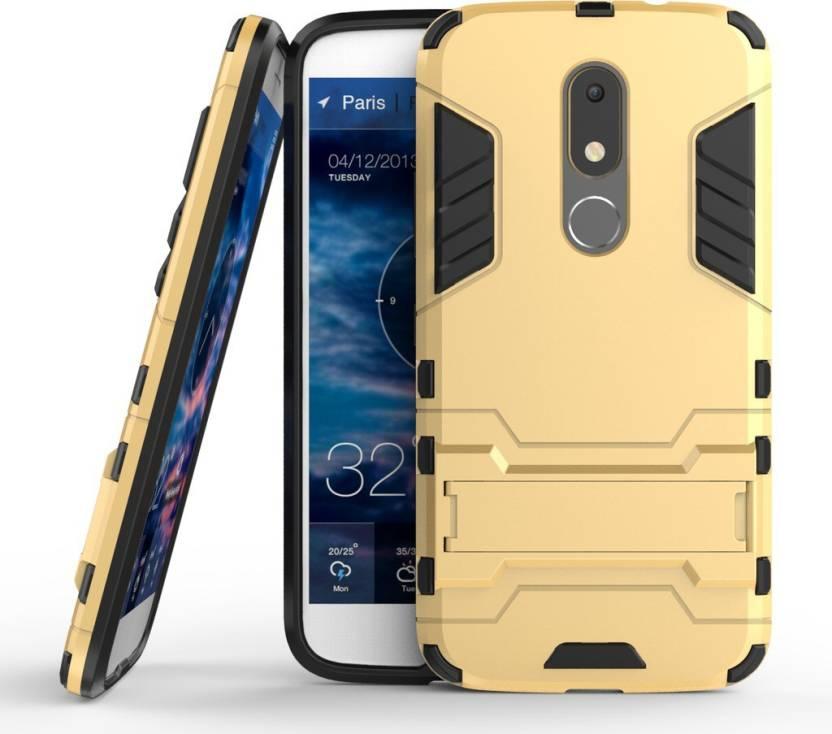 Chevron Shock Proof Case for Moto M (Lux Gold)