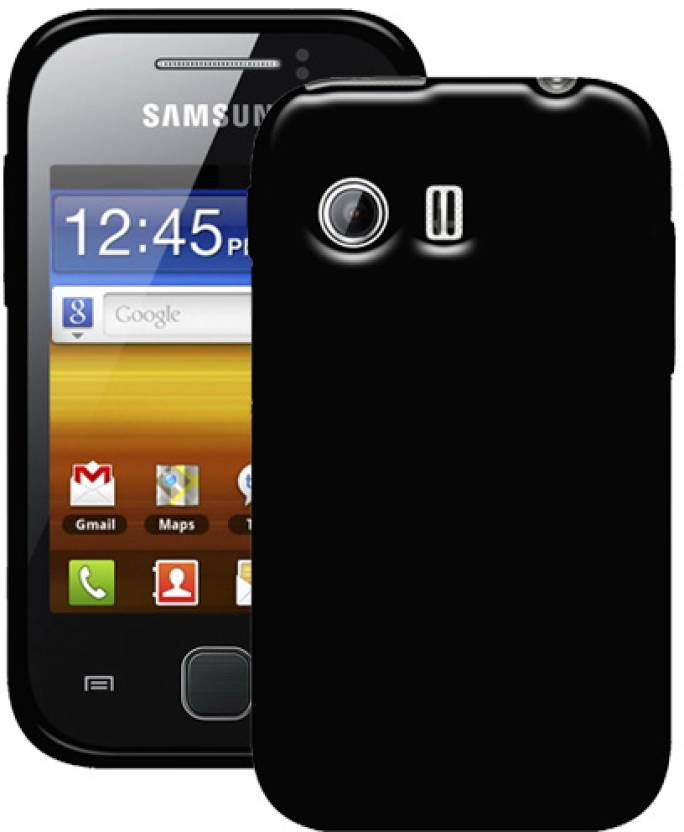Amzer 92984 Soft Gel TPU Gloss Skin Case for Samsung Galaxy Y S5360 Black