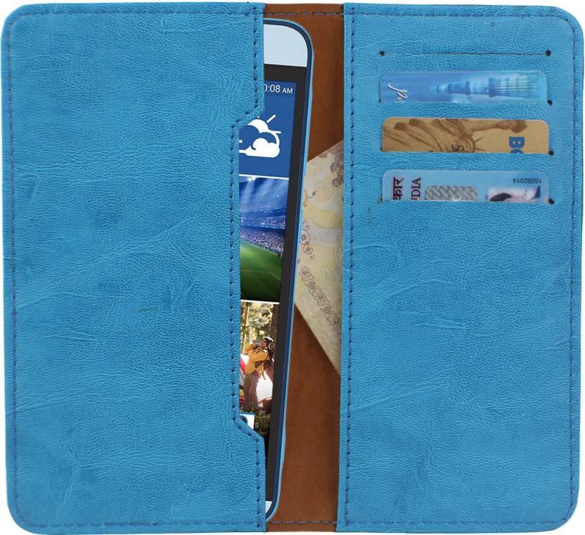 D.rD Wallet Case Cover for Lava Iris Fuel 50