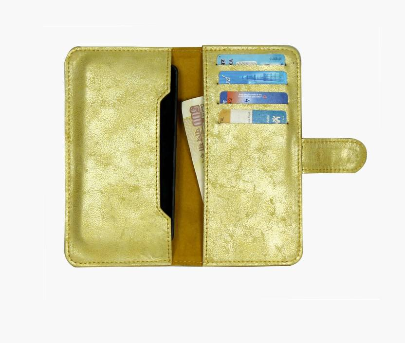 D.rD Wallet Case Cover for Lava Iris Fuel 60