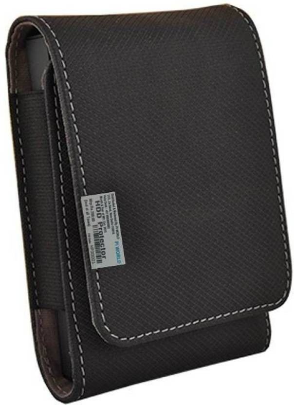Pi world Wallet Case Cover for WD My Passport Ultra 2TB Portable External USB 3.0 Hard Drive (Black, Artificial Leather)