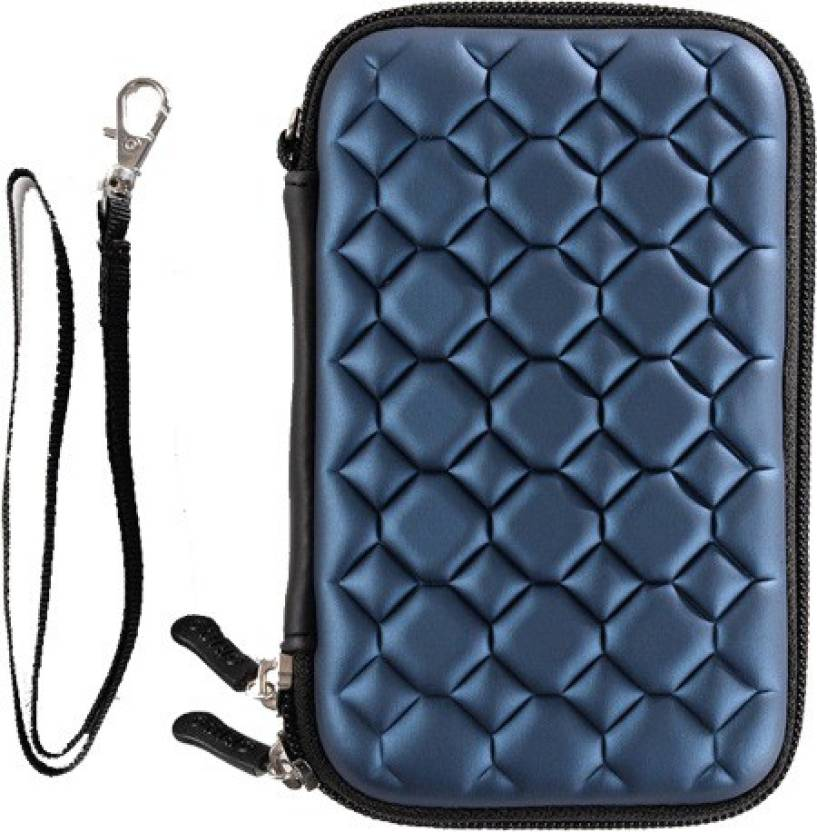 JPRS Pouch for 2.5 inch Blue Bubble Hard Disk Case Blue