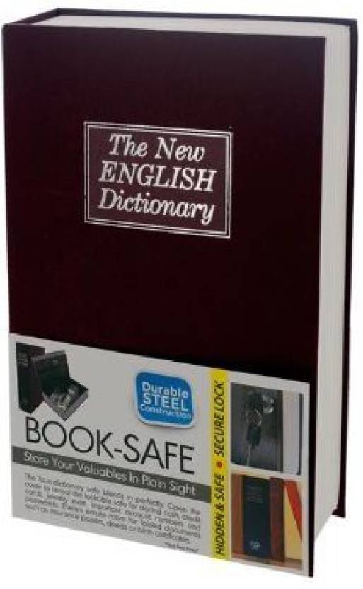 VibeX ™ Home Security Dictionary Book Safe Storage Key Lock Box for Money  Jewelry Mini Cash Box
