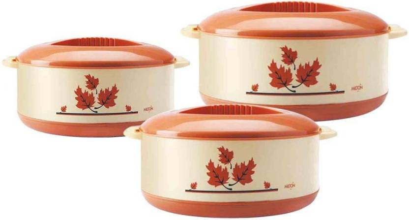 Milton Orchid JR. Set  .45/.85/1.5  Ltrs Gift Set Pack of 3 Thermoware Casserole Set 450 ml