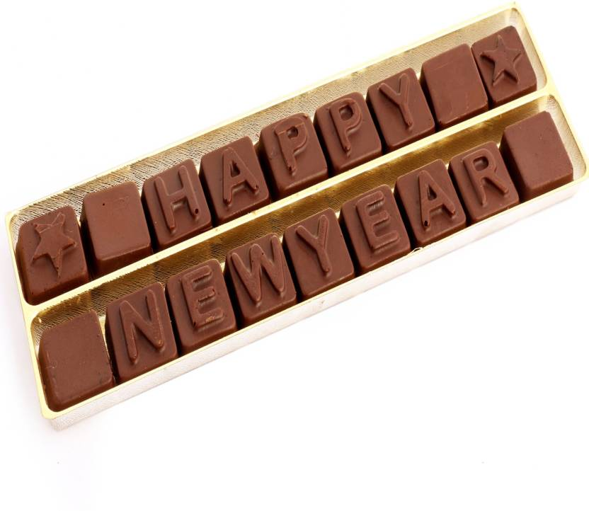 ghasitaram gifts happy new year alphabets chocolate bars