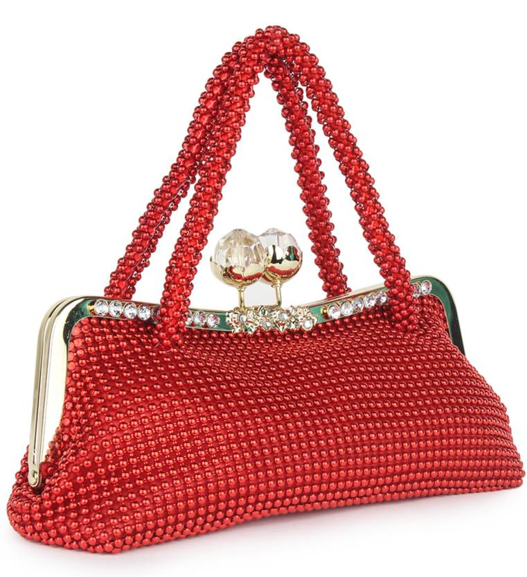 Star Style Women Festive Red  Clutch