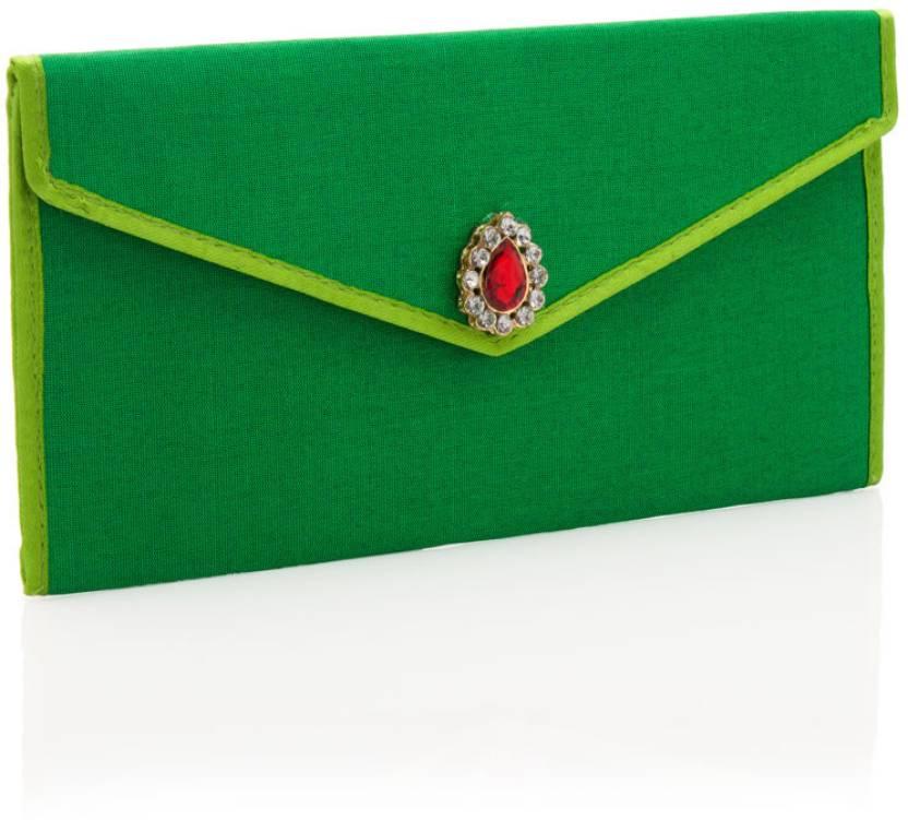 Voylla Women Wedding Green  Clutch