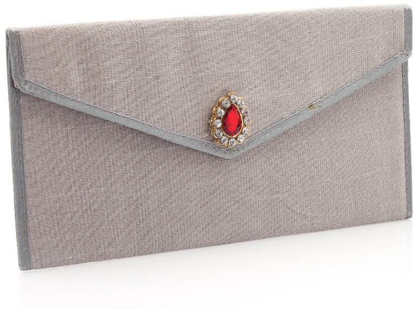 Voylla Women Wedding Grey  Clutch