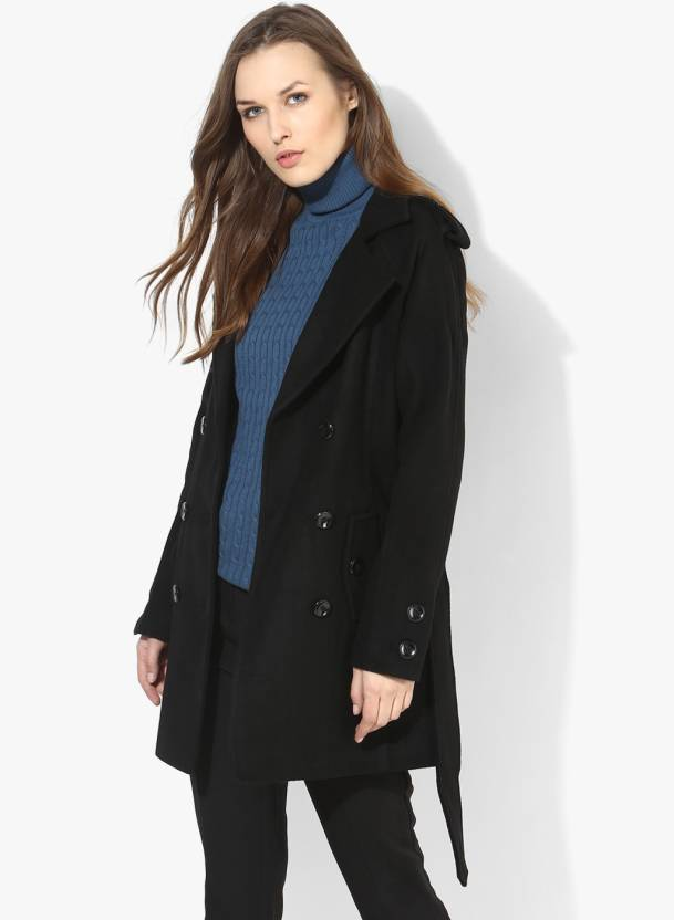 902931aa4 Annabelle by Pantaloons Women s Double Breasted Coat - Buy Black ...