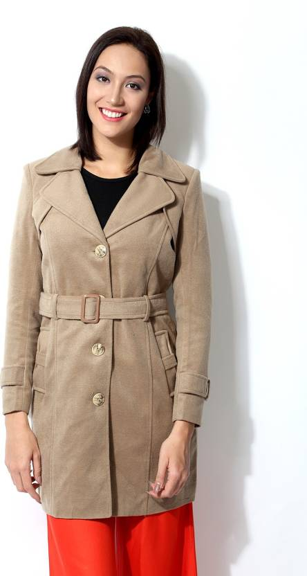 87a96414c Annabelle by Pantaloons Women s Single Breasted Coat - Buy Camel Annabelle  by Pantaloons Women s Single Breasted Coat Online at Best Prices in India  ...