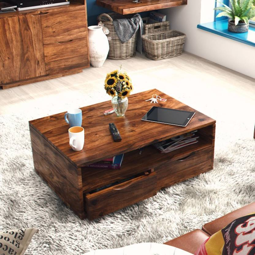 Urban Ladder Zephyr Storage Solid Wood Coffee Table Price In India