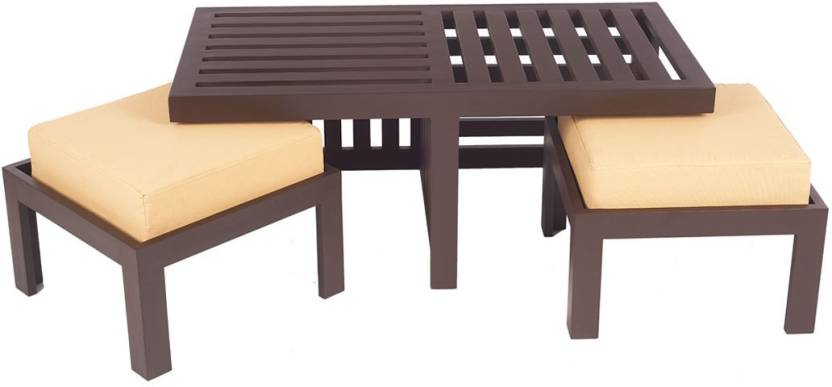 ARRA Trendy Engineered Wood Coffee Table Finish Color   Light Brown