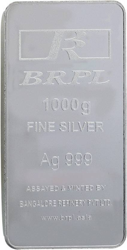 Bangalore Refinery S 999 1000 G Silver Bar